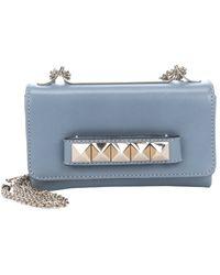 Valentino Grey Leather 'Va Va Voom' Convertible Shoulder Bag - Lyst
