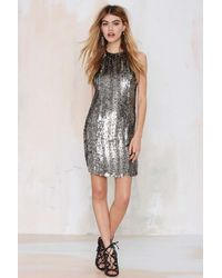 Nasty Gal Mlv Money For Nothin' Sequin Dress silver - Lyst