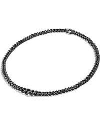 David Yurman Petite Pavé Curb Chain Necklace With Diamonds - Lyst