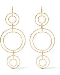 Noir Jewelry - Clio Gold-tone Earrings - Lyst