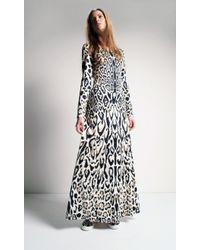 Temperley London Sherard Long Fitted Dress beige - Lyst