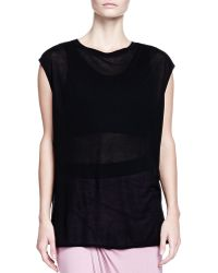 Helmut Lang Long Boxy Crewneck Top - Lyst