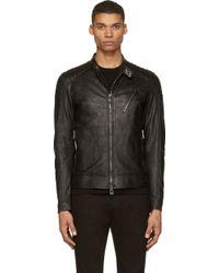 Belstaff Black Creased Leather K_Racer Jacket - Lyst