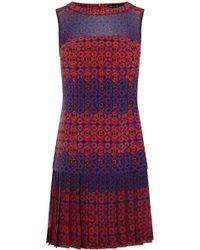 Karen Millen Geo Print Dress - Lyst