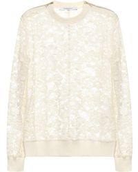 Givenchy Floral-Lace Cotton-Blend Sweater - Lyst