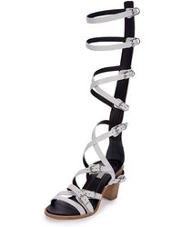 Balenciaga | Belted Leather Gladiator Sandals | Lyst