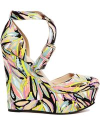 Asos Multicolor Photogenic Wedges - Lyst