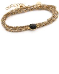 Sogoli - Stone Wrap Braided Bracelet - Silver/gold - Lyst