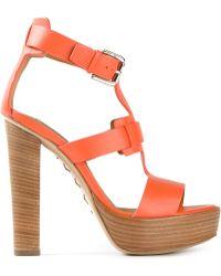 Ralph Lauren Strappy Sandals - Lyst