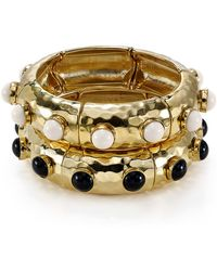 R.j. Graziano Hammered Bangle - Lyst