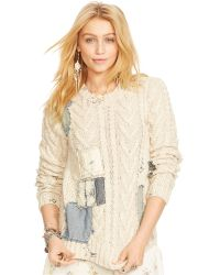 Denim & Supply Ralph Lauren Cable-Knit Patched Sweater - Lyst