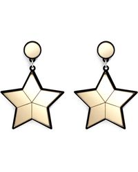 Yazbukey 'Superstar' Plexiglas Clip Earrings gold - Lyst