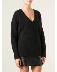 Vanessa Bruno Cut Out Detail Sweater - Lyst