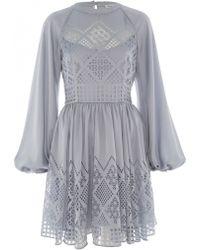 Temperley London Azure Long Sleeved Dress - Lyst