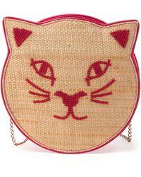 Charlotte Olympia Pussycat Raffia Shoulder Bag - Lyst