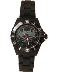 Blue & Cream - Black Skull Timepiece - Lyst