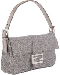 Fendi Jacquard Baguette Shoulder Bag - Lyst