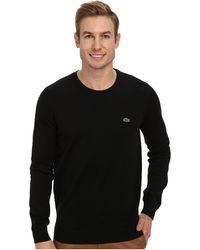 Lacoste Glc Cotton Crew Neck Sweater - Lyst