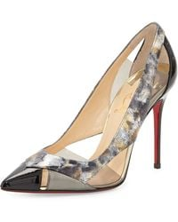 Christian Louboutin Galata Cutout Patent Red Sole Pump - Lyst