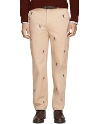 Brooks Brothers Clark Fit Football Embroidered Chinos - Lyst