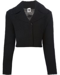 M Missoni Cropped Shearling Jacket - Lyst