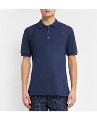 Alexander McQueen Harness-detailed Cotton-pique Polo Shirt - Lyst