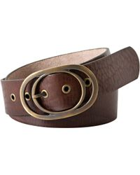 Fossil - Vintage Leather Oval Buckle Belt - Lyst
