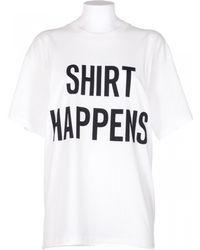 """Moschino Oversize T-Shirt """"Shirt Happens"""" white - Lyst"""