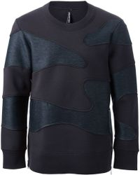 Neil Barrett Camouflage Applique Sweatshirt - Lyst