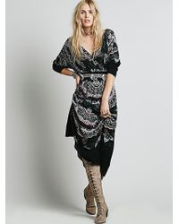 Free People She'S A Lady Printed Dress - Lyst