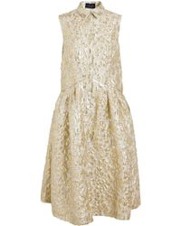Simone Rocha Sleeveless Floral Brocade Dress - Lyst
