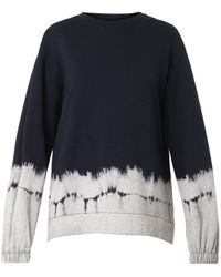 Stella McCartney Navy Tiedye Sweatshirt - Lyst