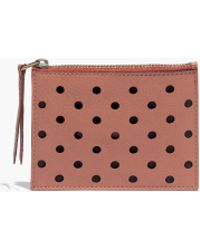 Madewell Leather Pouch Wallet In Holepunch - Lyst