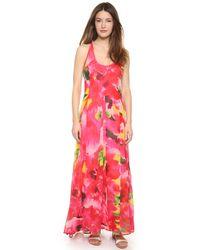 Bb Dakota Deklyn Abstract Floral Maxi Dress - Multi - Lyst