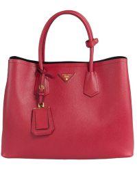 Prada B2756T Bag - F068Z Fuoco (Red) Saffiano Cuir Leather Tote - Lyst