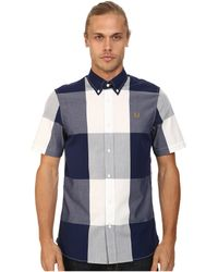Fred Perry Magnified Gingham Shirt - Lyst