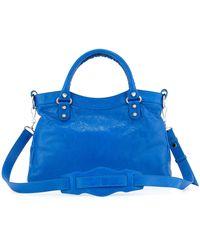 Balenciaga Giant 12 Nickel Town Bag blue - Lyst