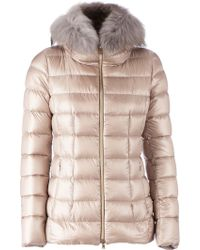 Herno Fur Collar Padded Jacket - Lyst