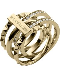 Michael Kors - Stacked Pyramid Pave Ring - Lyst