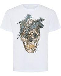 Alexander McQueen Feather Skull T-Shirt - Lyst