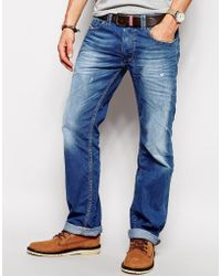 Diesel Jeans Larkee 830W Straight Fit Mid Distress - Lyst