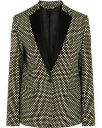 Jonathan Saunders Louise Printed Silk and Wool Blend Blazer - Lyst