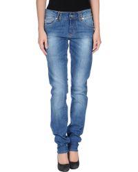 John Galliano Blue Denim Trousers - Lyst