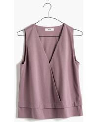 Madewell Across V-Neck Top - Lyst