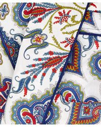 Liberty - Ivory Lord Paisley Cotton Long Robe - Lyst