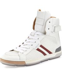 Bally Perforated High Top Sneaker  - Lyst