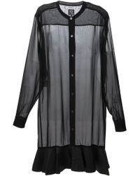 McQ by Alexander McQueen Long Fit Sheer Blouse - Lyst