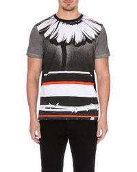 Diesel T-Doris Daisy-Print T-Shirt - For Men black - Lyst