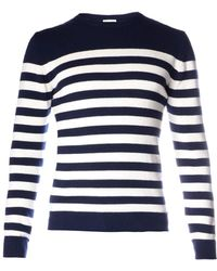 Saint Laurent Breton Stripe Sweater blue - Lyst