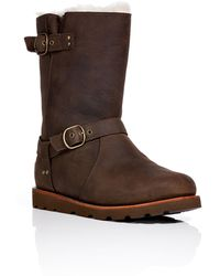 Ugg Leather Noira Boots - Lyst